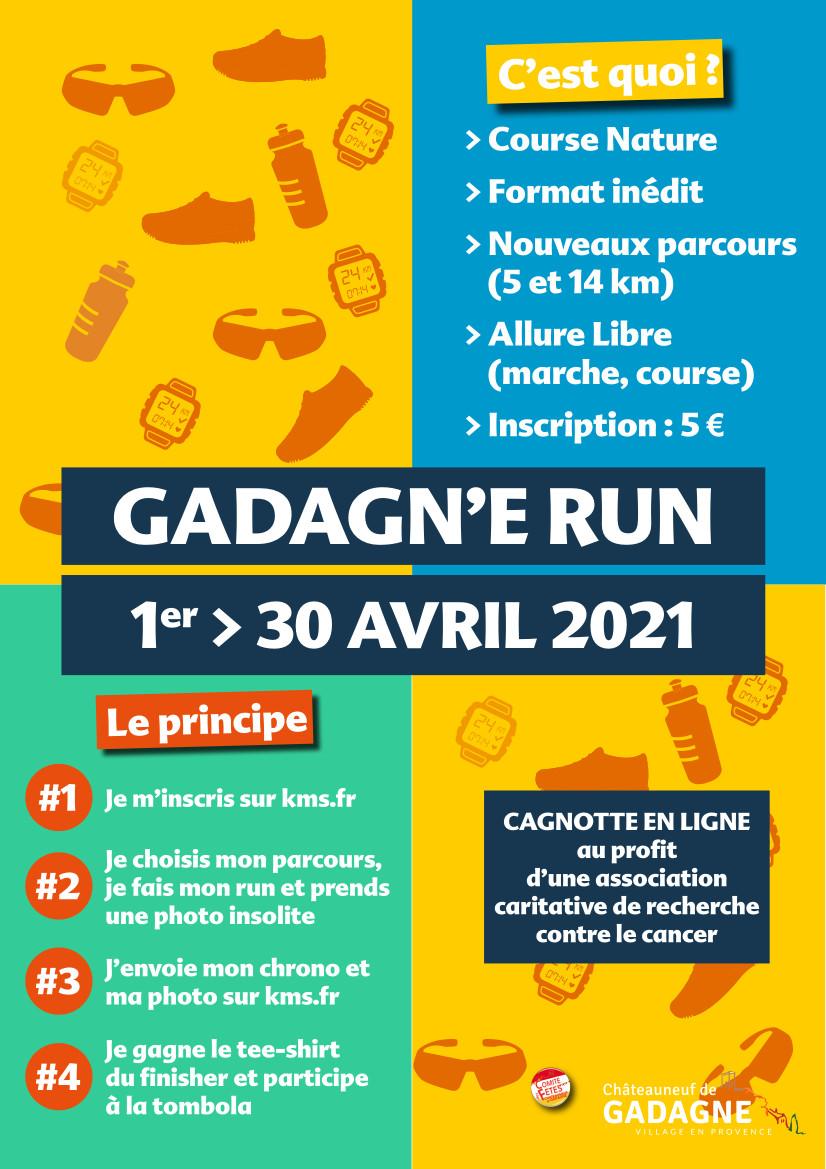 Affiche La Gadagn'e Run