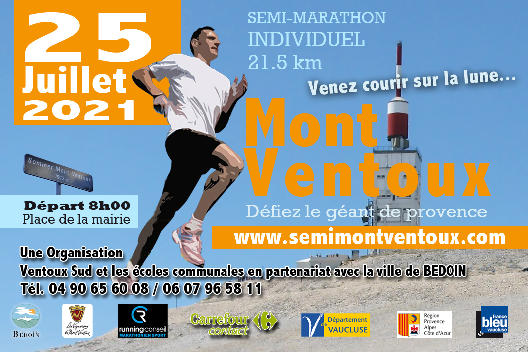 Affiche Semi Marathon du Ventoux